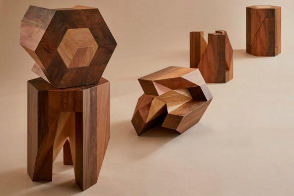 Crean un versátil taburete de madera sólida inspirado en un puzle japonés 8bade61725dd