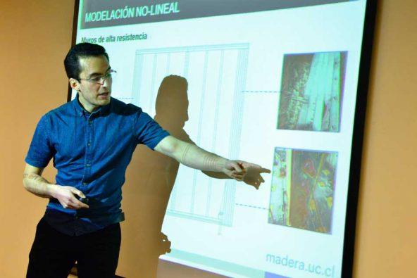 Concursante de Ingeniería y construcción, feria Semana de la Madera 2018