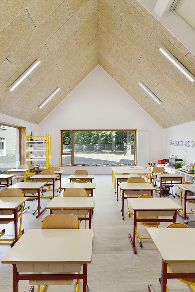 Interior de la escuela La Rouche
