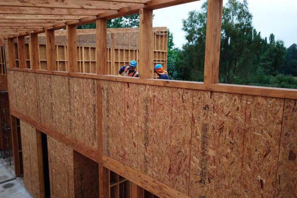 Construcción escuela Cantino