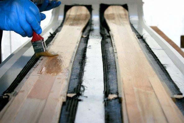 Tablas de esquí de madera