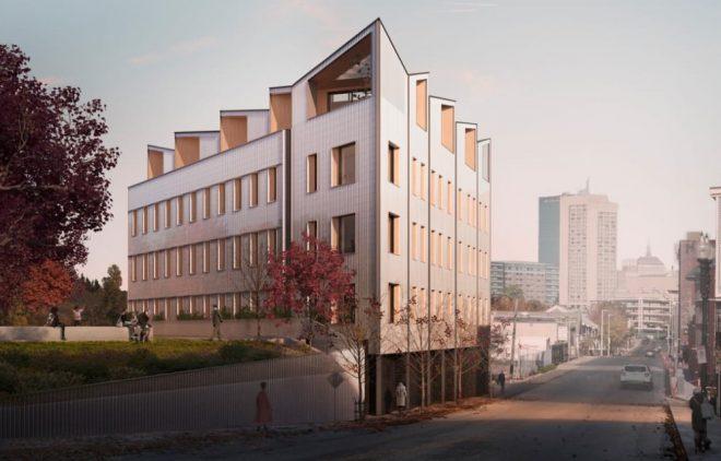 edificios uniformados